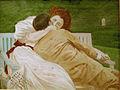 1910-08-02 Zur Erinnerung an den 2, August 1910 gewidmet von Deinem Theodor (Krüger), Celle, Weihnachten 1910, Musiklehrer, vermutl. übermaltes Foto, Jugendstil.jpg