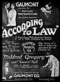 1916 According to Law Promotional Piece.jpg