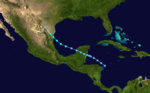 1922 Atlantic tropical storm 1 track.png