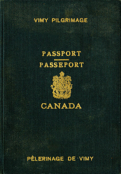 Vimy Ridge Special Passport