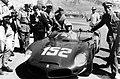 1962-05-06 Targa Florio winner Ferrari 246SP 0796 Mairesse stops.jpg