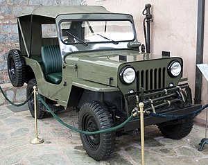 Jeep CJ - A 1963 Türk Willys Overland CJ-3B on display at the Rahmi M. Koç Museum of Transportation, Istanbul