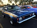 1973 AMC Gremlin X package in blue with gold at AMO 2015 meet 1of8.jpg