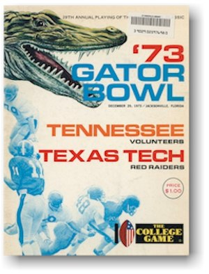 TaxSlayer Bowl - 1973 Gator Bowl Game Program