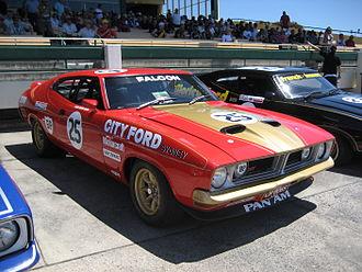 Ford Falcon (XB) - Allan Moffat won the 1976 Australian Touring Car Championship driving a Ford Falcon GT (XB) Hardtop