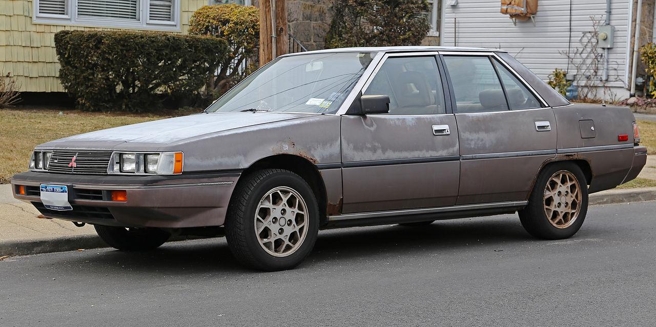 File:1985 Mitsubishi Galant base 2.4 (E17A) front.jpg ...