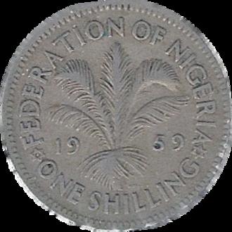 Nigerian pound - 1 Nigerian Shilling