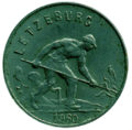 1 franc Luxembourg Charlotte (1960)-avers.png