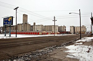 Salina, Kansas - Downtown Salina grain elevators