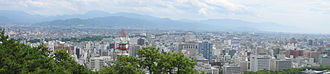 Matsuyama, Ehime - A panoramic view of the city from Matsuyama Castle