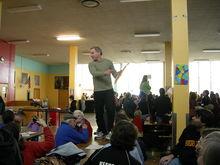 Caucus per il 46° distretto legislativo dello Stato di Washington in una mensa scolastica (2008).
