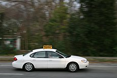 2009-03-11 Student driver SB on N Gregson St in Durham.jpg