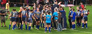 2009 Leeds Rhinos season - Leeds celebrate winning the 2009 Super League Grand Final