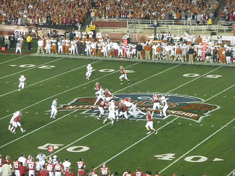 Texas and Alabama in January 2010 2010 BCS Champ.jpg