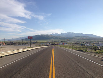 U.S. Route 93 in Nevada - View south along US 93 just north of Wells