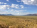 2014-08-09 18 06 30 View north down Steptoe Valley from U.S. Routes 6, 50 and 93 about 40.8 miles east of the Nye County line in White Pine County, Nevada.JPG