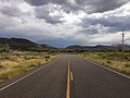 2014-08-19 14 49 21 View south along Nevada State Route 225 (Mountain City Highway) about 97.4 miles north of Nevada State Route 535 (Idaho Street) in Owyhee, Nevada.JPG