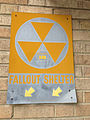 2014-09-09 08 18 28 Fallout shelter sign on the main United States Post Office in Elko, Nevada.JPG