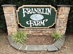Sign at the east entrance to Franklin Farm planned community