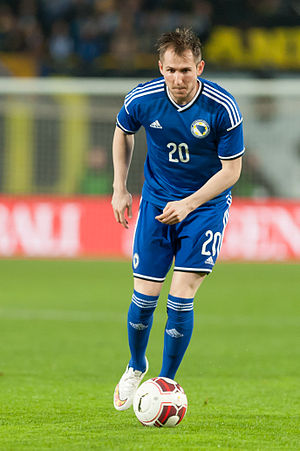 Izet Hajrović - Hajrović playing for Bosnia and Herzegovina in 2015