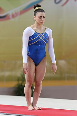 2015 European Artistic Gymnastics Championships - Vault - Claudia Fragapane 02