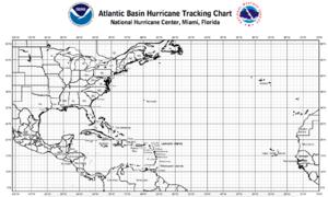 Tropical cyclone tracking chart - Atlantic hurricane tracking chart