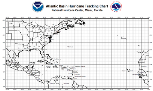 2017 Atlantic Hurricane TrackingChart