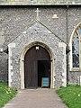 2018-04-23 Porch and main door, parish church of Saint James, Southrepps, Cromer.JPG