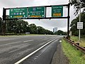 2018-07-22 09 54 09 View south along New Jersey State Route 445 (Palisades Interstate Parkway) at the exits for U.S. Route 9W and Hudson Terrace in Fort Lee, Bergen County, New Jersey.jpg