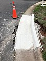 2021-07-14 14 04 13 A section of curb replaced within the prior 24 hours along Apple Barrel Court in the Franklin Farm section of Oak Hill, Fairfax County, Virginia.jpg