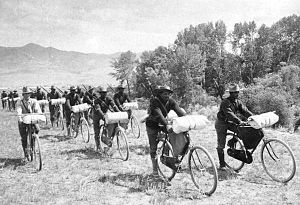 Mountain biking - US 25th Infantry Bicycle Corps, 1897