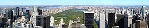 Panorama of the north of Manhattan, from the R...