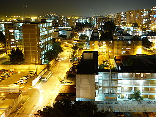 Guarenas City in Miranda, Venezuela