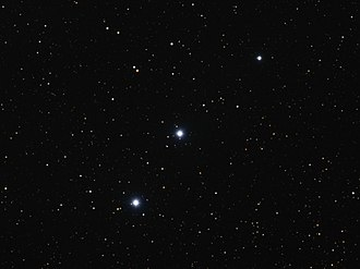 29 Persei - 29 Persei is the bright star in the center of this optical light image. 31 Persei is the bright star lower and to the left of 29 Persei.