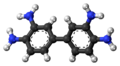 3,3'-Diaminobenzidine molecule twisted ball.png
