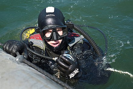 Combat swimmer from the 311th PDSS in Kamchatka (2017).