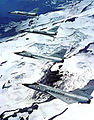 318th Fighter-Interceptor Squadron F-106 Delta Dart Four Ship Formation by Mount McKinley.jpg