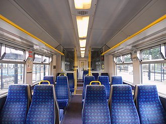 British Rail Class 321 - The interior of Standard Class accommodation aboard a Silverlink Class 321/4 EMU