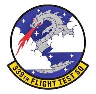339th Flight Test Squadron - Image: 339th Flight Test Squadron Emblem