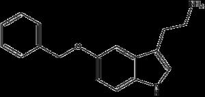 5-Benzyloxytryptamine - Image: 5 benzyloxytryptamine