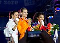 660 podium 100 m dames (27924057614).jpg
