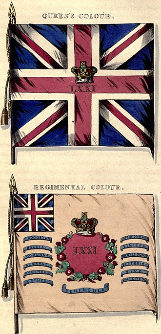 71st (Highland) Regiment of Foot - Regimental colours