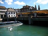 7340 - Zürich - Limmat at Rathausbrücke.JPG