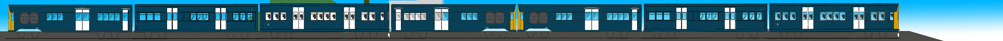 Rail Blue livery on Class 485
