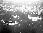 A-4E Skyhawk of VA-55 refuels Sea Vixen FAW2 of 893 NAS in May 1964.jpg