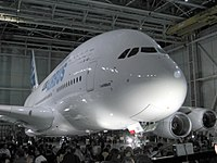 The A380 was revealed in January 2005