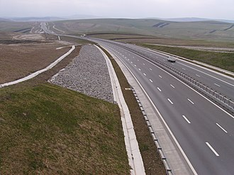 A3 motorway (Romania) - A3 motorway near Cheile Turului