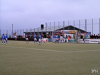 Argja Bóltfelag - Inni í Vika Stadium AB scores against KÍ and wins 3–1