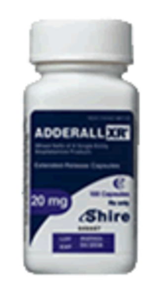 Shire (pharmaceutical company) - A container of Adderall XR