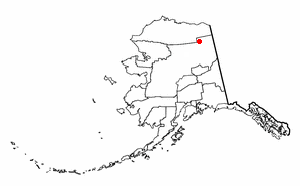 Arctic Village, Alaska - Image: AK Map doton Arctic Village
